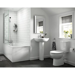 iflo Cascada 5 Piece Bathroom Basin Toilet Pedestal Suite