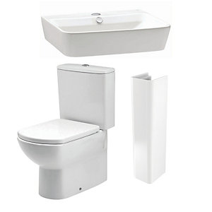 Capra 5 Piece Back to Wall Pack 650mm Basin 296126