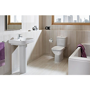 Roca Debba 5 Piece Pack 550mm 2 Tap Hole Cloakroom Basin