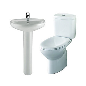 Roca Laura Tap, Basin & Toilet Pack
