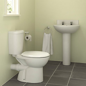 Standard 4 Piece Suite 2 tap hole And Toilet Seat Pack