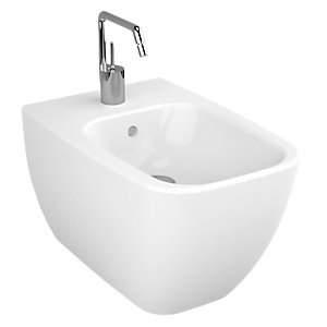 Vitra Shift Wall Hung Bidet 1 Tap Hole 4394B003-0288