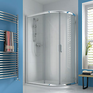 iflo Ravana Curved Offset Quadrant Sliding Door Shower Enclosure 1200 x 800 mm