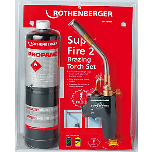 Rothenberger 35668 Superfire Brazing Torch & Propane Gas Cylinder