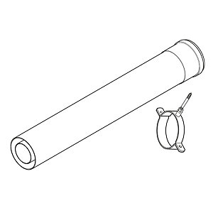Baxi Multifit Central Heating System Flue Extension 1000mm 241695