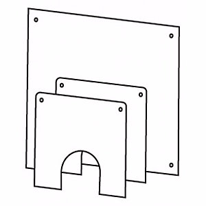 Worcester 7716190074 Greenstar Oilfit Flexible 100mm Dia Flue Wall Cover Plate