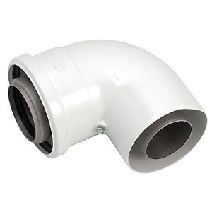 Worcester 90 Degree Boiler Flue Elbow 60mm/100mm 7719002348