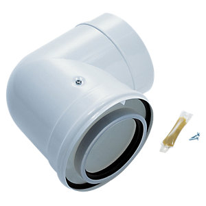 Worcester Bosch Greenstar Oilfit 90 Degree Boiler Flue Elbow 100mm/150mm 7716190046