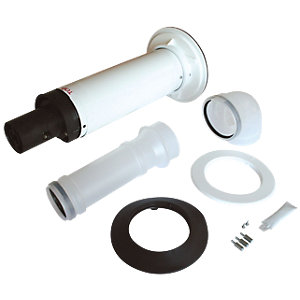 Worcester Long Telescopic Boiler Flue Kit 60mm/100mm 7716191155