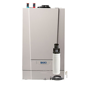 Baxi Ecoblue Advance 30kW Gas Heat Only Boiler ERP & Rear Flue Pack