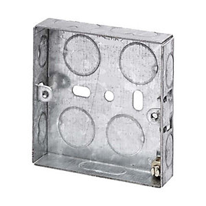 Appleby SB623 1 Gang 16mm Flush Metal Back Box