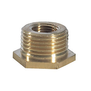 Brass Hexagon Bush 3/4inchx1/2inch BSP