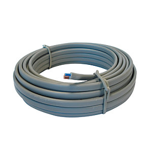 4TRADE 1.0mm² Twin & Earth Cable 6242Y Grey 10m