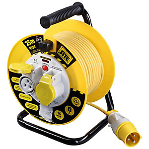 Masterplug LVCT2516/2 110V 25m 16A 2 Socket Heavy Duty Industrial Cable Open Reel