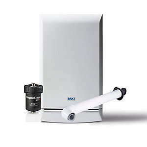 Baxi Duotec 24kW Gas Combi Boiler ERP & Horizontal Flue with Filter Pack