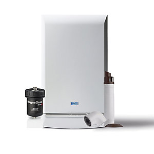 Baxi Duotec 24kW Gas Combi Boiler ERP & Telescopic Flue with Filter Pack