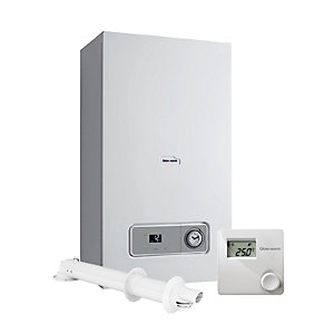 Glow-Worm Betacom4 24C Gas Combi Boiler ErP with Vertical Flue & Climastat Control Pack