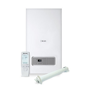 Glow Worm Ultimate 3 35 kW Combi Boiler, Horizontal Flue & Climapro 2 Control Pack