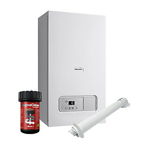 Glow-worm Ultimate 3 30kW Gas Combi Boiler ErP & Horizontal Flue with Filter Pack