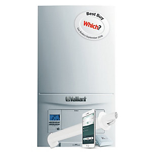 Vaillant ecoFIT Pure 825 Natural Gas Combi Boiler ErP 25kW 10020389  Plus Horizontal Flue and vSmart Control Pack