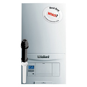 Vaillant ecoFIT Pure 825 Natural Gas Combi Boiler ErP 25kW 10020389 Plus Vertical Flue Pack