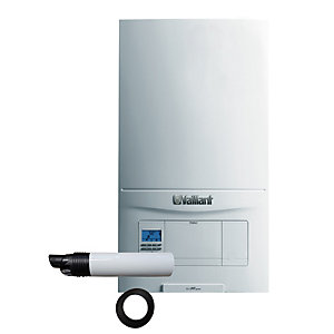 Vaillant ecoFIT Pure 835 Natural Gas Combi Boiler ErP 35kW 10020391 + Rear Flue Pack