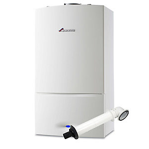 Worcester Greenstar 25kW SI Compact Gas Combi Boiler ERP & Horizontal Flue Pack
