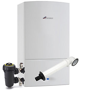 Worcester Greenstar 30i 30kW Gas Combi Boiler ERP with Horizontal Flue & Filter Pack