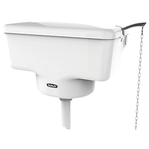 Dudley 313510 Tri-Well Turbo High Level Well Bottom Cistern White