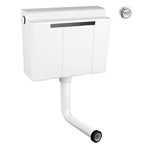 Grohe 39054000 Adagio Dual Flush Cistern Side Entry