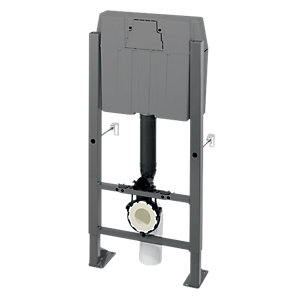 Wirquin CME 50717639 Pro High Wc In Wall Frame Complete & Cable Operated Dual Flushing Cistern Valve