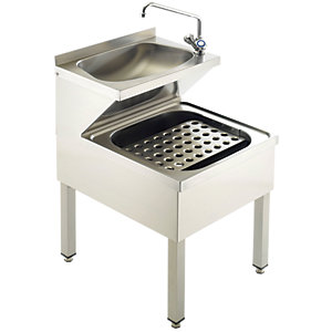 Acorn Powell 807 Stainless Steel Janitorial Unit 500x600x850 & Tap Grid & Traps