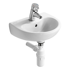 Armitage Shanks S263501 Contour 21 Splash Basin 400mm x 330mm White 1 Tap Hole