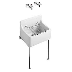 Armitage Shanks Cleaners Sink with Grating and Pads