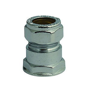Compression Chrome Straight Coupling Fi 12 x 15 mm