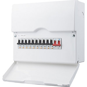 Bg CFSWP110-01 14 Way Populated Consumer Unit with 100A Switch & 10 RCBOs