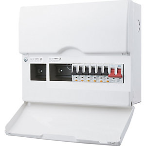 Bg CFSWP610-01 6 Way Populated Consumer Unit with 100A Switch & 6 RCBOs