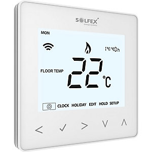 Soflex NeoAir Wireless Thermostat for Smart Phone Control Glacier White 65mm x 100mm