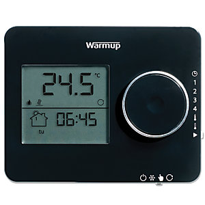 Warmup Underfloor Heating ELT PB Tempo Programmable Thermostat Piano Black