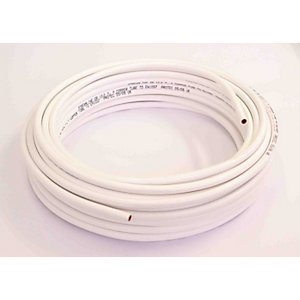 Wednesbury Copper Pipe PVC Coated Coil 10 mm x 25 m White Table W (Per Metre)