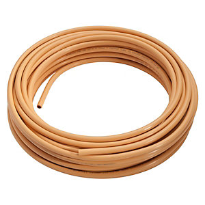 Wednesbury Copper Pipe PVC Coated Coil 15 mm x 20 m Coil Yellow Table Y (Price & Quantity Per Metre) Y015C-20PY