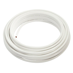 Wednesbury Copper Pipe PVC Coated Coil 8 mm x 25 m Coil White Table W