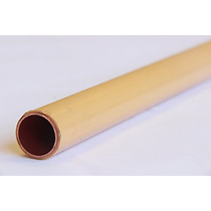 Wednesbury Copper Pipe PVC Coated Length 28 mm x 3 m Length Yellow Table X (Price & Quantity Per Metre)