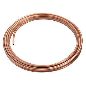 Wednesbury Copper Pipe Plain Coil 8 mm x 25 m Coil Table W (Price & Quantity Per Metre) W008C-25