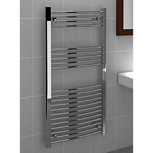 Standard 22mm Towel Rail Curved Chrome 1200x600mm