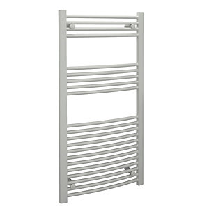 Standard Towel Rail Curved White 22 mm x 1200 mm x 500 mm