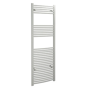 Standard Towel Rail Curved White 22 mm x 1800 mm x 600 mm