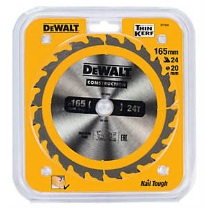 DeWalt Extreme 165mm Circular Saw Cutting Blade 165 x 20 x 24T