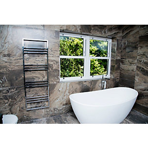 Towelrads Boxford Chrome Towel Rail 1200mm x 500mm