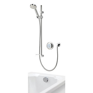 Aqualisa Quartz Divert Thermostatic Digital Mixer Shower High Pressure (Concealed with Bath Filler) QZD.A1.BV.DVBTX.14